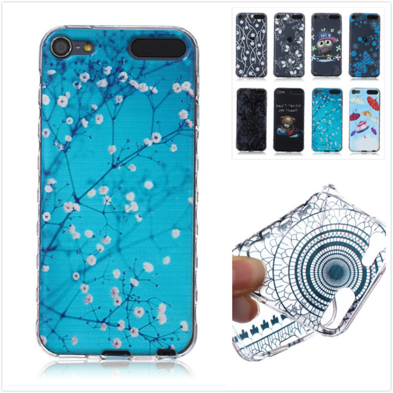 Fashion Skid Clear soft TPU Case For Apple Ipod Touch 5/6 Case Back Protect Skin Rubber Phone Cover Silicone Gel Case(China (Mainland))