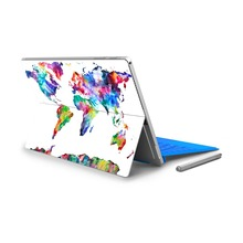 For Micro Surface Pro 4 Vinyl Back Full Decal Tablet Netbook Sticker World Map Print Skin Logo Cut Out Note Pattern NO.(China (Mainland))