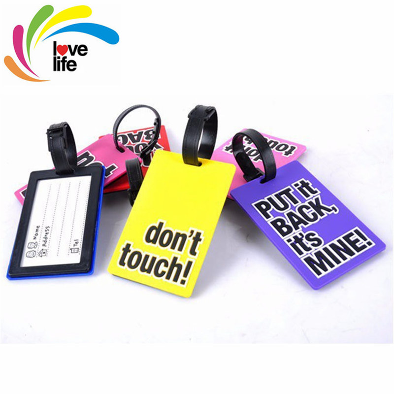 Free Shipping English Phrase Series Cute Baggage Tag Secure Mixproof Luggage Personal Information Card Multi-colors Optional(China (Mainland))