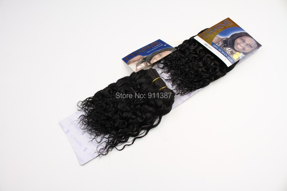 braiding hair Blended weave extensions CHARME WATER WAVE 1# 5packs lot factory sale - Beauty Lady's World store
