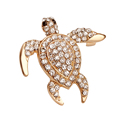Beautiful Brooches Jewelry Animal Tortoise Brooches Pin For Party Rhinestone Colorful Small Cute Women Brooch Dress