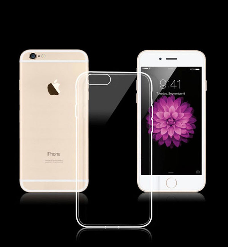 Super Slim Clear Cell Phone Cases for iPhone 6 4.7 inch 2015 Cheap Soft TPU Cover Cases for iPhone 6 Plus 5.5 inch(China (Mainland))