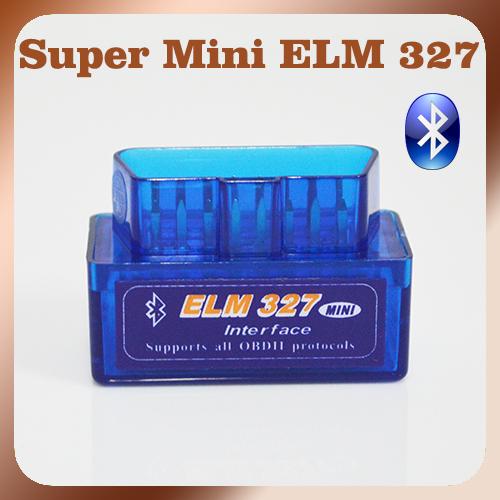 New Version Bluetooth ELM327 V2.1 Blue Super MINI ELM 327 OBD2 / OBDII Car Code Scanner Auto Reader FREE SHIPPING(China (Mainland))