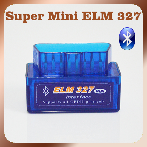 New Version Bluetooth ELM327 V2.1 Blue Super MINI ELM 327 OBD2 / OBDII Car Code Scanner Auto Reader FREE SHIPPING(China (Mainland))