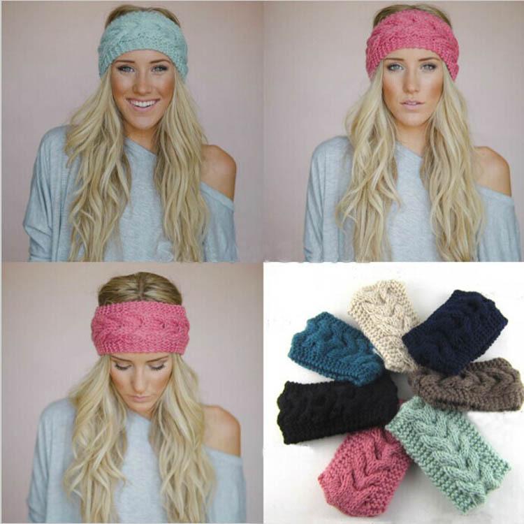 200pcs free Shipping Wholesale Hot Sale Hair Accessories Women Knit Crochet Headband Winter Braid Head wrap(China (Mainland))