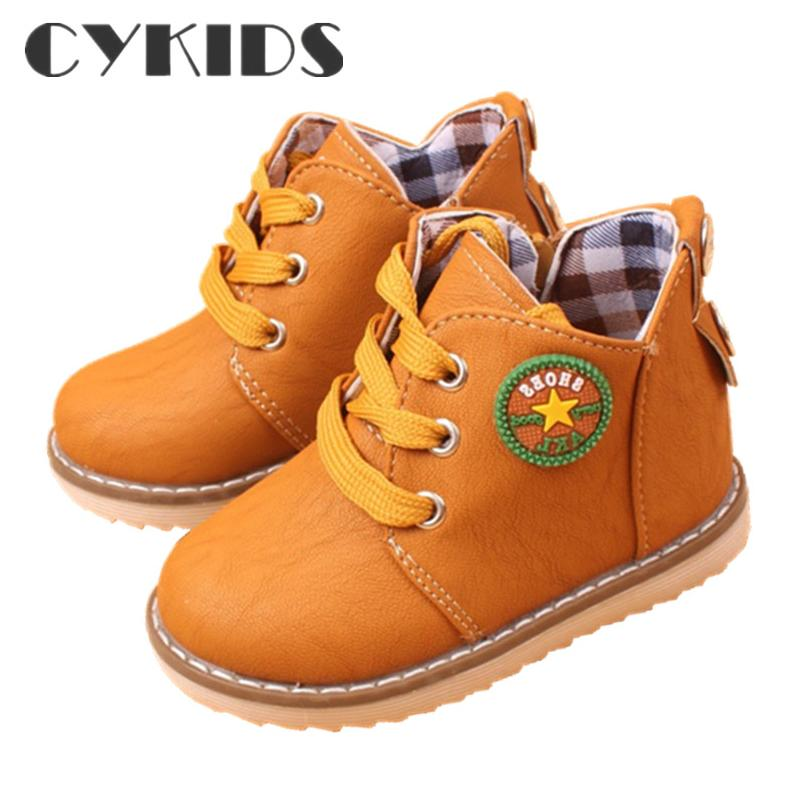 Top Selling Winter Warm Child Snow Boots Shoes Spring Autumn Girls Boys Boots Flat With Size 21-30 Kids Children Baby Boots Shoe(China (Mainland))
