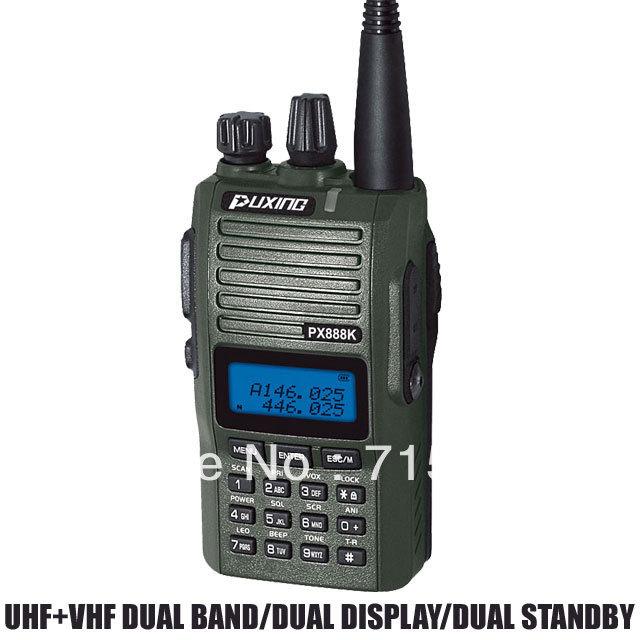 PUXING PX-888K PX CB ham radio dualband dual frequency UHF &VHF 5w two way radio walkie talkie transceiver police equipment