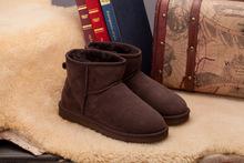 Al por mayor! de China classic tall impermeable zapatos de piel de Oveja de lana-uno de cuero genuino botas de nieve caliente para las mujeres(China (Mainland))