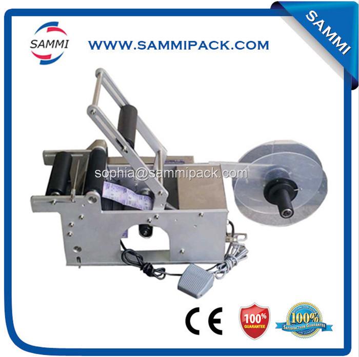 Free shipping after sale service provided semi automatic glass bottle labeling machine(China (Mainland))