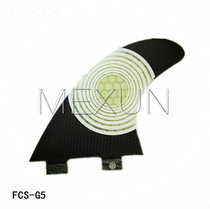 High Quality FCS Water Surfing Tail Fin G5 3 PCS/SET Black SUP Surfboard Fins for Men and Women(China (Mainland))