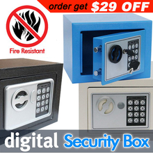 Digital safe box is Fire Drill Resistant Ideal for Home Office use! Safety Security Box keep Cash Jewelry or Documents Securely(China (Mainland))
