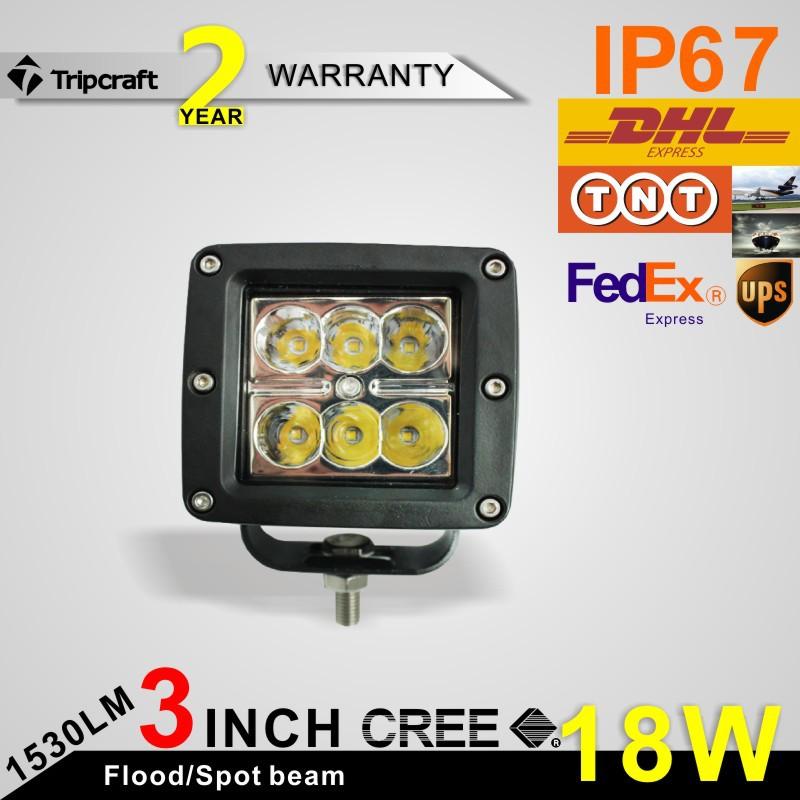 20% DISCOUNT OFF 2pcs 4 18W LED Work Light Lamp Tractor Boat Off-Road 4WD 4x4 12v 24v Truck SUV ATV Spot Flood Super Bright<br><br>Aliexpress
