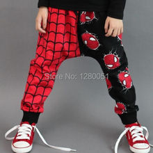 New Fashion Super Spider-man Kids Baby Girls Boys Children Harem Pants Trouser Age 2-7Y CA(China (Mainland))