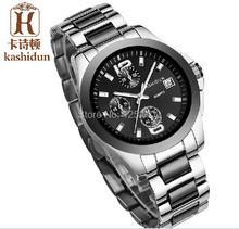 Mejor venta KSD marca de lujo de relojes de pulsera de moda casual para hombres sumergible 100m de acero y cerámica