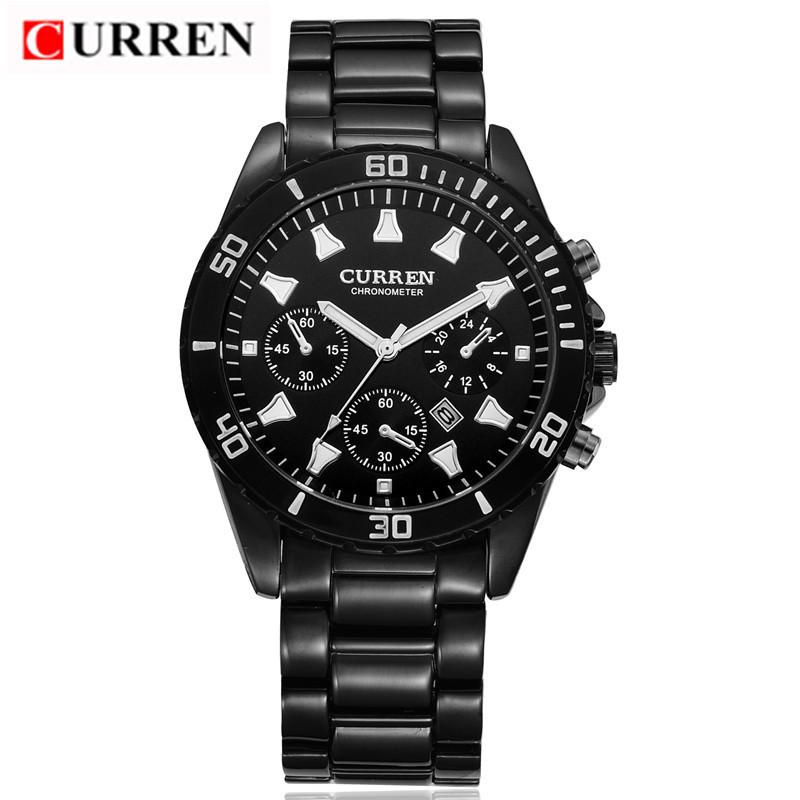 2016 new fashion Curren brand design business army men male clock casual military luxury wrist quartz sport gift watch 8009(China (Mainland))