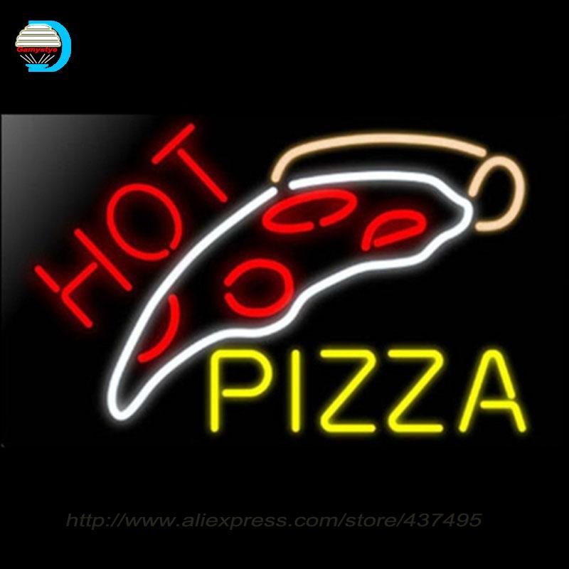 New Neon Signs Pizza Slice Neon bulbs handcrafted Advertise Pasta Italian Delicatessen Pasta Chef Italian Food Glass Tube sign(China (Mainland))
