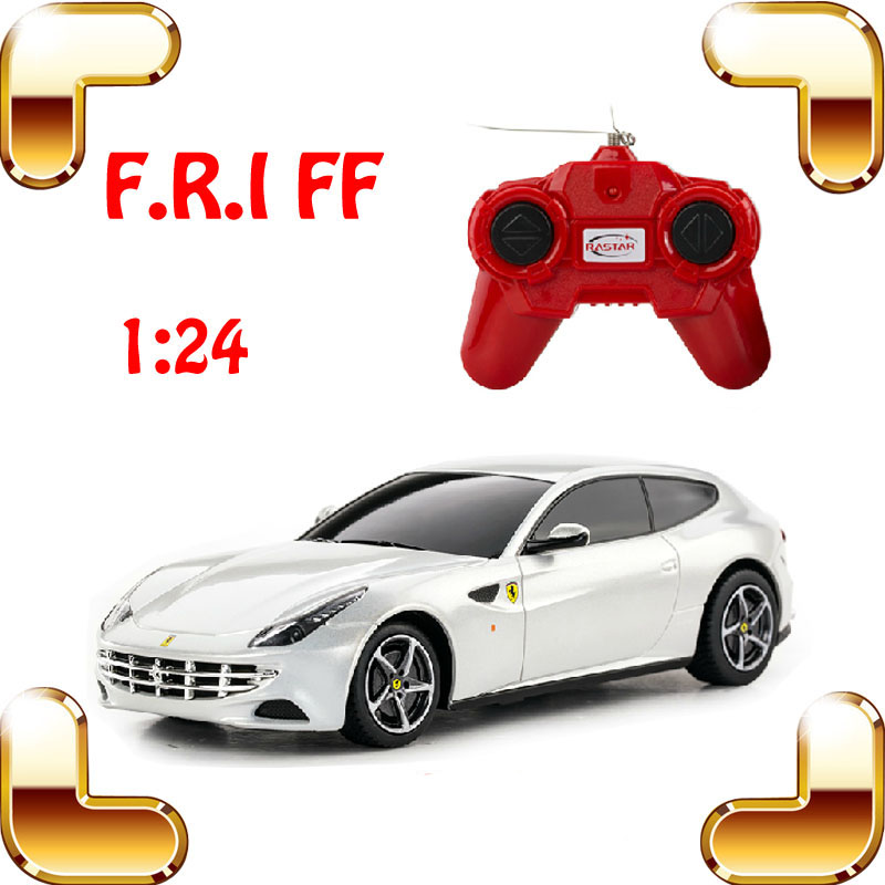 New Year Gift Rastar FF 1/24 RC Radio Control Car Mini Model Drive Kids Favour Toy Electric Car Boy's Collection Car Fans(China (Mainland))