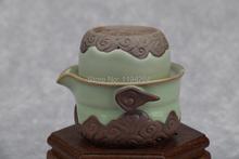 Tianqing * Handmade Ru Kiln Celadon Ware Teapot & Teacup Gongfu Tea Set 115ml