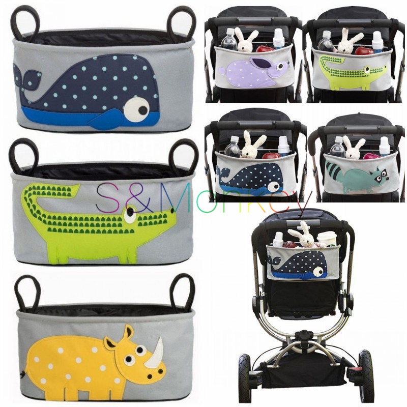 Free Shipping!Baby Stroller Organizer Diaper Bags Mommy Travel Nappy Bag Stroller Bag Cartoon Accessories Storage Hanging Bags(China (Mainland))