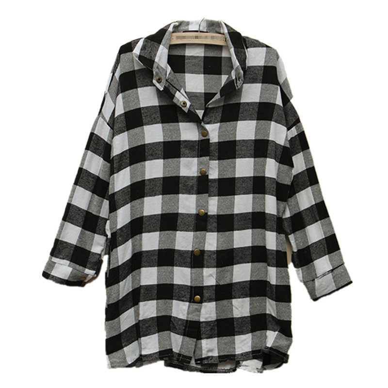 New 2015 European Style Womens Long Sleeve Turn Down Collar Blouse Casual Loose Fashion Shirts Plus Size S-XXL(China (Mainland))
