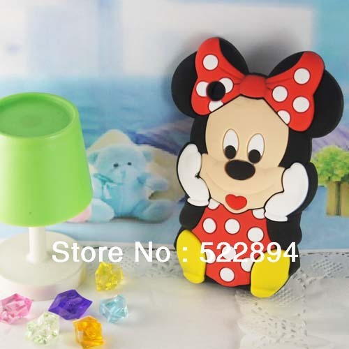 Lovely Fashion 3D Mickey Mouse Silicone Soft Cover Case for Apple iPhone 3G 3GS Case(China (Mainland))