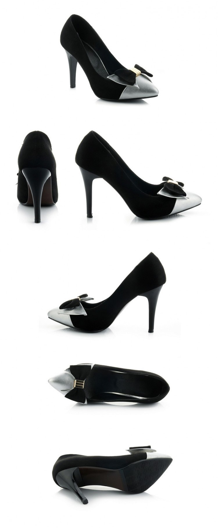 Fashion Thin High Heels Women Pumps Sweet Bowtie Pointed Toe Shoes New Arrival Women Shoes Zapatos Mujer ZM2.0