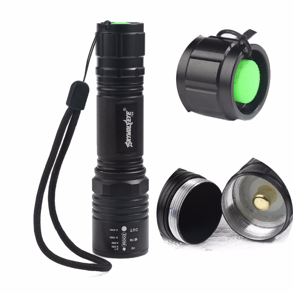 C62 Cree XM-T6 3000LM Cree Tactical Led Flashlight Torch, Led Flashlight Zoom Cree Torch For 3 xAAA or 1 x 18650(China (Mainland))