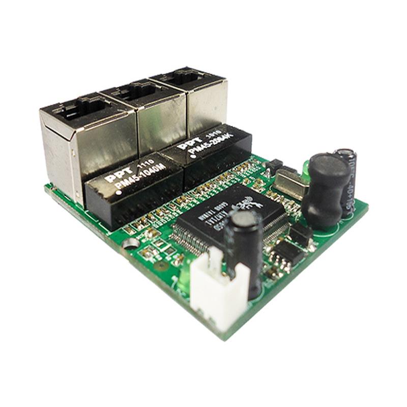 Buy realtek chip rtl8306e mini 10 100mbps rj45 lan hub 3 port ethernet switch - Mini switch ethernet 3 ports ...