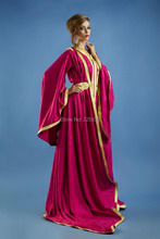 Abaya In Dubai Fashion V Neck Sparkly Sequims Long A Line Kaftan Golden And Red Evening Dresses Pakistan Caftan Gowns(China (Mainland))