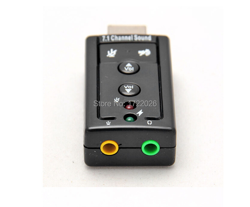 With button External USB sound card USB to 3D AUDIO SOUND CARD ADAPTER With Tracking number