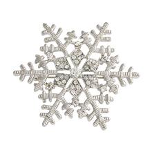 Pas cher en argent broche flocon de neige femmes strass cristal Broches Charm femme Jewlery vêtements accessoires X0892(China (Mainland))