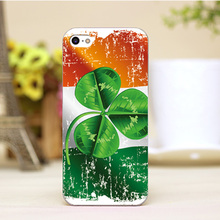 pz0005-37 Ireland flag irgo Design Customized cellphone transparent cover cases for iphone 4 5 5c 5s 6 6plus Hard Shell