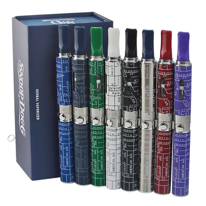 ถูก 500ชิ้น/ล็อตSnoop Doggชุดเลขหมายสมุนไพรvaporizerสีสันขี้ผึ้งสมุนไพรแห้งสีฟ้าไอฉีดน้ำeบุหรี่อิเล็กทรอนิกส์ชุดvape