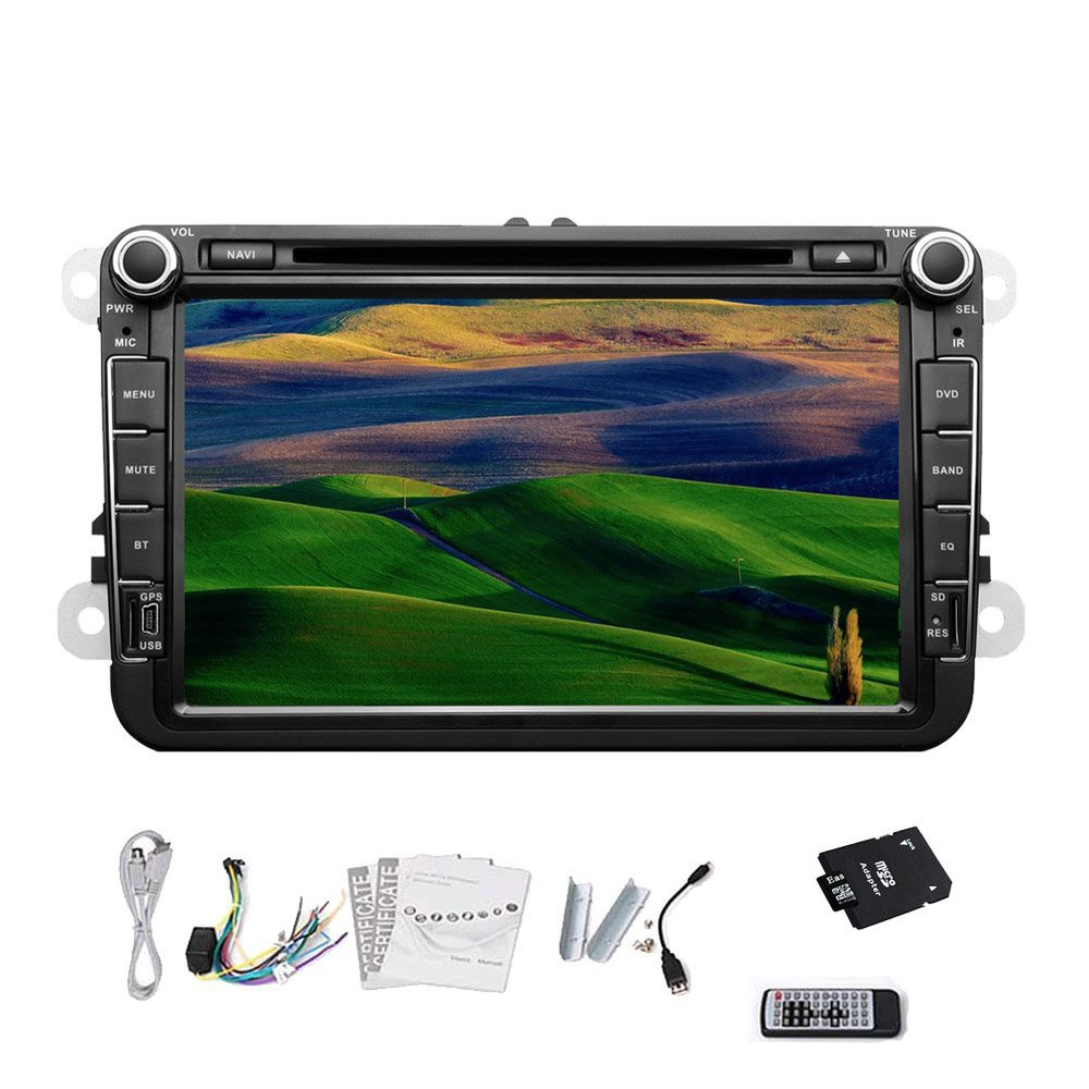 Pupug Canbus Car Stereo DVD Player GPS Navigation Bluetooth Ipod RDS TV Radio For Volkswagen VW 8 Inch(China (Mainland))