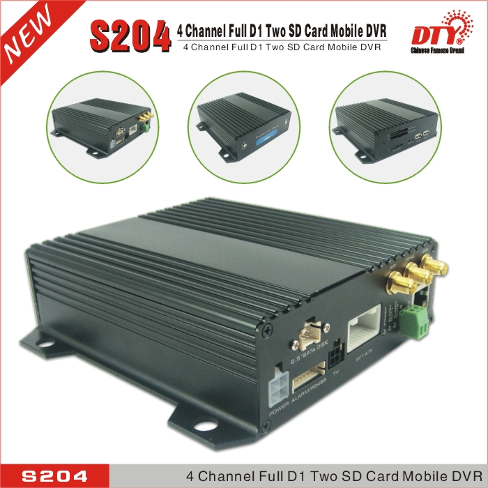 DTY h264 net surveillance 3g 4 channel usb 2.0 dvr for buses taxi truck, S204-3G(China (Mainland))