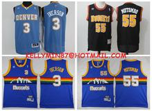 2016 new arrivals,Denver Nuggets,high quality,Dikembe Mutombo,Allen Iverson,Alex English,Emmanuel Mudiay,Carmelo Anthony(China (Mainland))