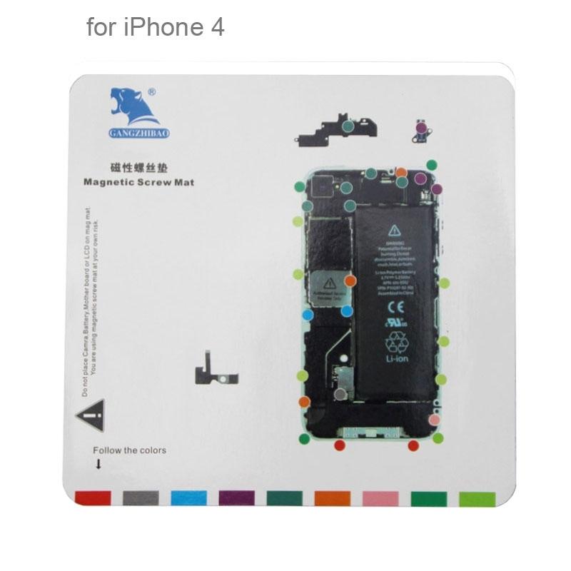 7 in 1 Magnetic Screws Mat for iPhone 6 6s / 6 Plus / 5S / 5 / 4S / 4 Spare Repair Parts