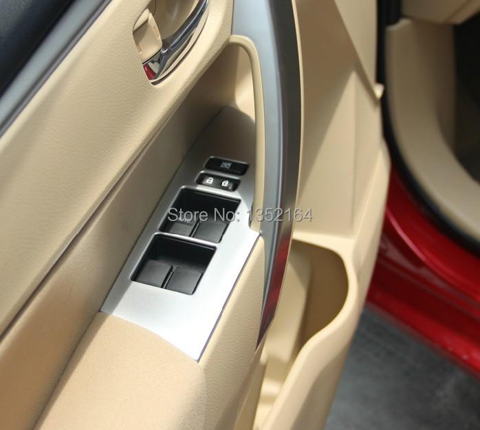 Auto interior accessories car inner window lifter button trim sticker for toyota corolla 2014 for Toyota corolla interior accessories