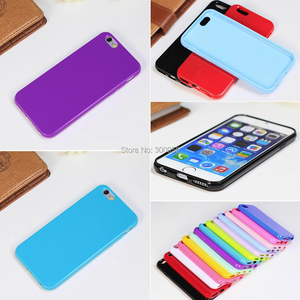 Case Covers iPhone 6 6s Candy Color Protective Ultra Thin Soft TPU Smooth Shell WHD1090 1-10 - poplar1115 store