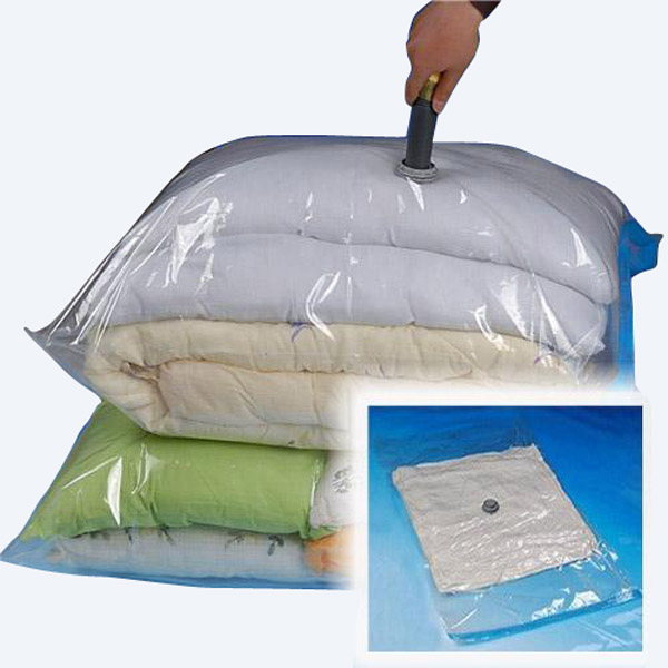 New Hot Sale 100x80cm Large Compress Space Saving Vacuum Storage Seal Travel Large Bag Compression Space Saver High Quality(China (Mainland))