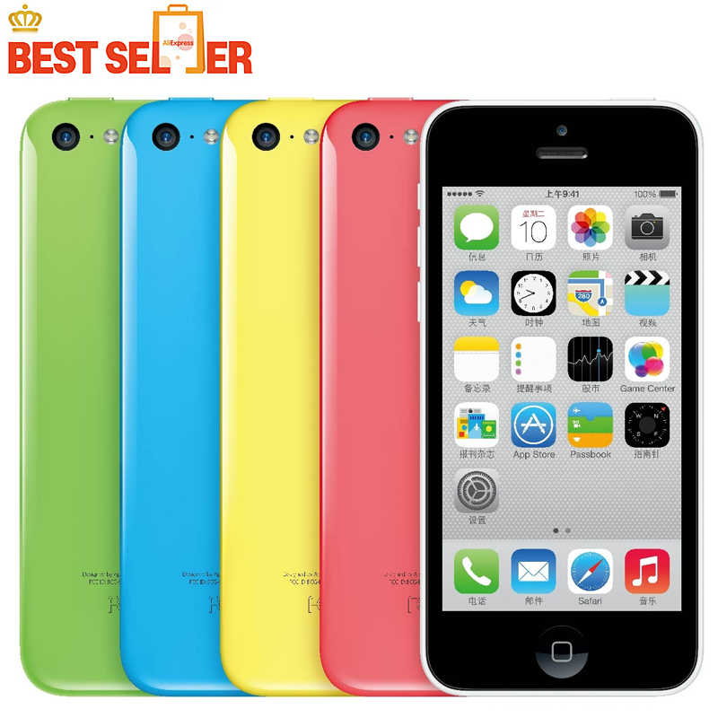 "Iphone 5C 100% Original Unlocked Apple 5C mobile phone LTE 4.0"" Dual Core IOS Multi-Language time-limited Promotion(China (Mainland))"