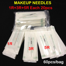 Free Shipping Mix Makeup Needles Professional Sterilized Permanent Makeup Needles(China (Mainland))