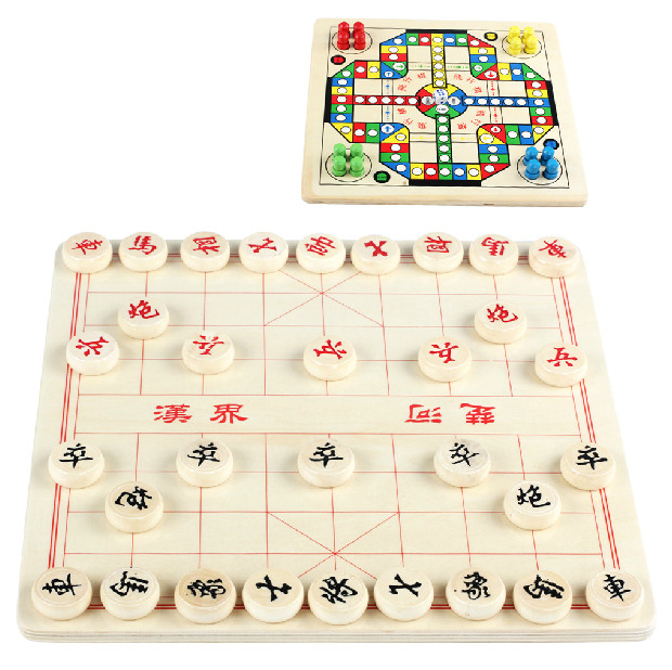 Qiao trees Collectibles Chinese chess flight wooden combinations early childhood puzzle game  -  y1y2y3 store