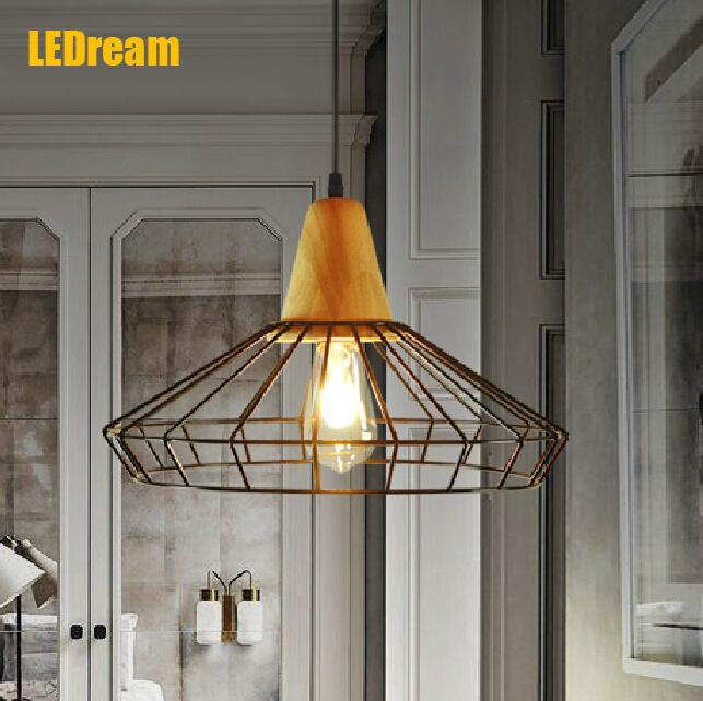 Фотография  creative personality, wrought iron chandelier sitting room dining-room, cafe bar light industrial mesh droplight