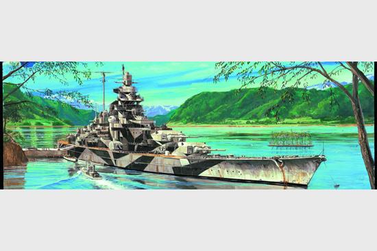 Trumpeter 05712 1/700 scale Germany Tirpitz Battleship 1944(China (Mainland))