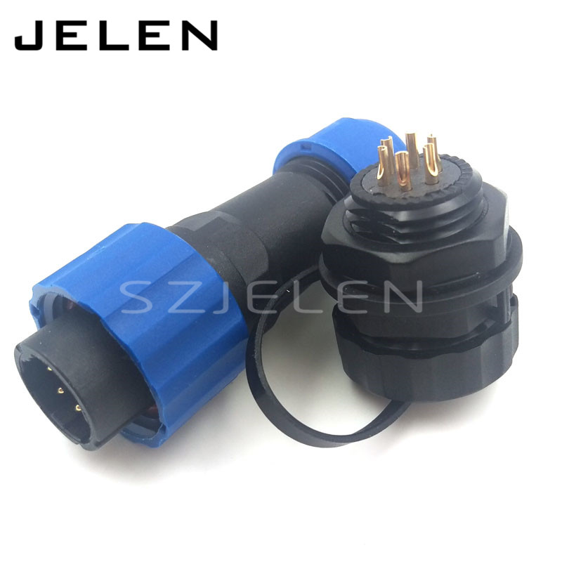 SD16 ,Opening size 16mm, 6 Pin waterproof connector, IP68, cable connector male female. auto connectors, electrical connectors(China (Mainland))