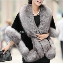 2015 Fur coat Autumn and Winter warm New Fox Fur Vest gilet outerwear women's fashion Mink Rabbit fur coat plus size(China (Mainland))