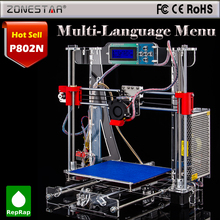 The sixth Generation  Prusa i3 3d Printer DIY kit P802M High Precision Reprap kits free shipping