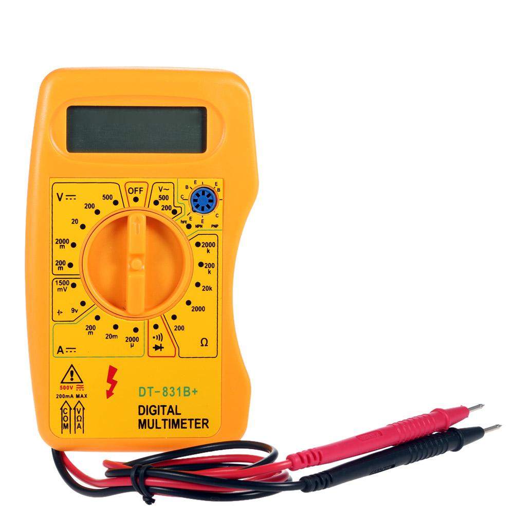 DT-831B+ Mini Digital Multimeter DMM Voltmeter Ammeter Ohmmeter hFE Tester w/Battery diagnostic-tool high quality multimetro(China (Mainland))