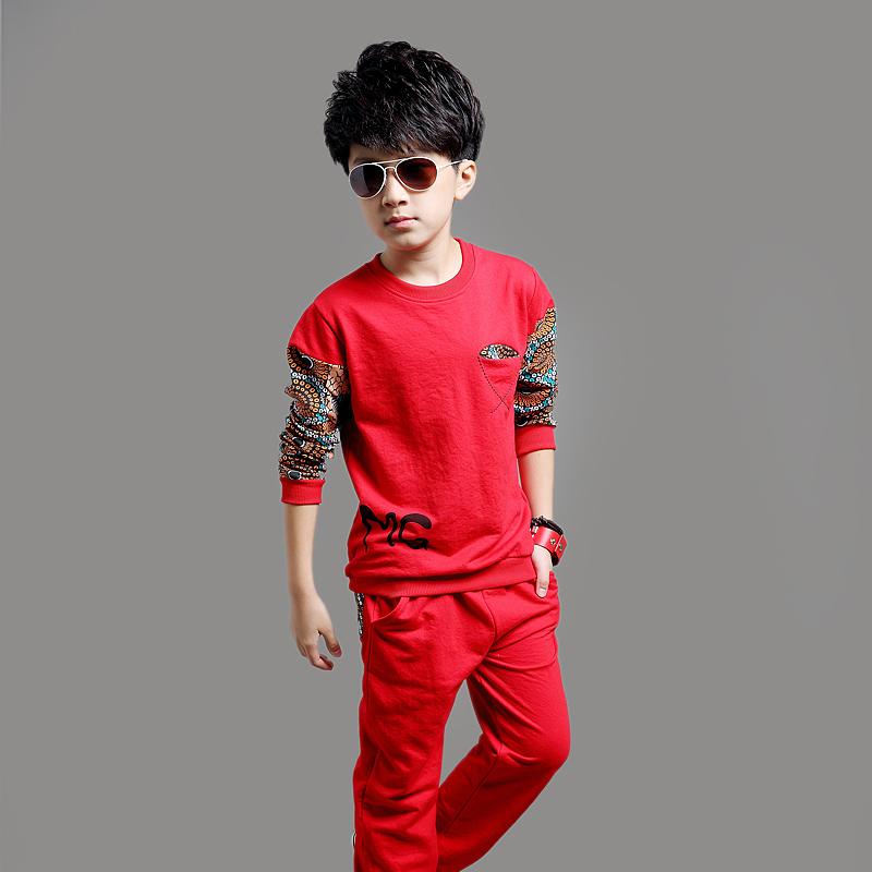 Real Photo! Hot 2016 new Children's casual fashion male child sweatshirt 2 piece set Free shipping(China (Mainland))